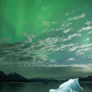 Aurora, Iceberg, Northern Lights, Yakutat, Alaska, For Sale